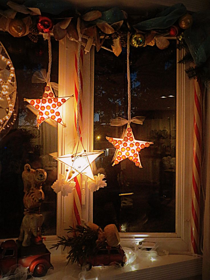DIY Christmas lanterns. Filipino parol. I used bbq sticks