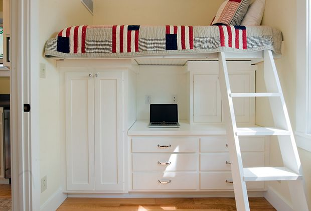 Raised Bed Over Wardrobe And Desk