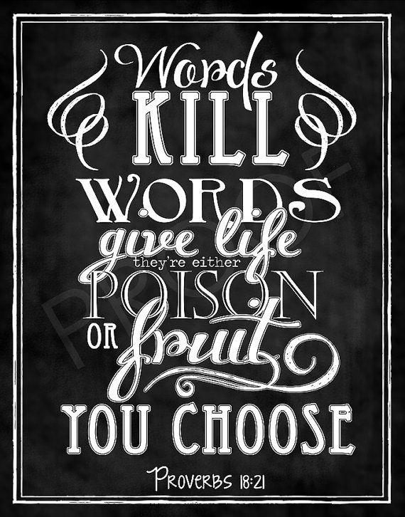 Scripture Chalkboard Art Proverbs 1821 The Message