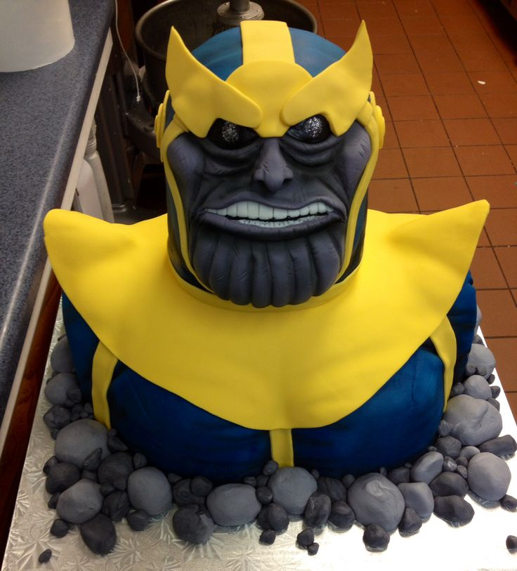 Thanos The Destroyer Cake Annacakes Com Birthday Cakes
