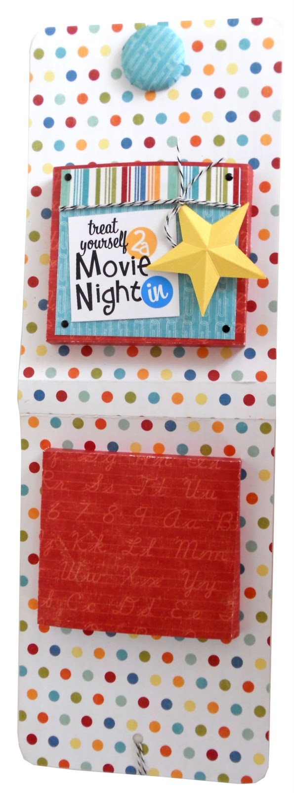Gift Wrap DVD And put candy and gift card in the outside