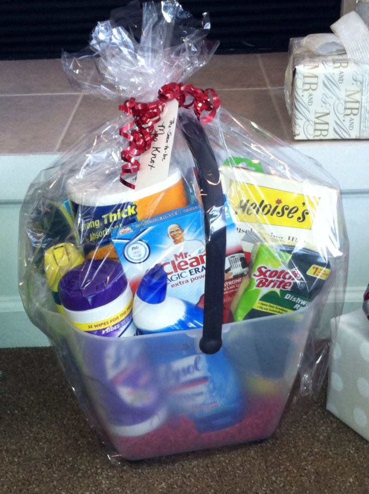 17 Best Images About House Hold Gift Basket On Pinterest