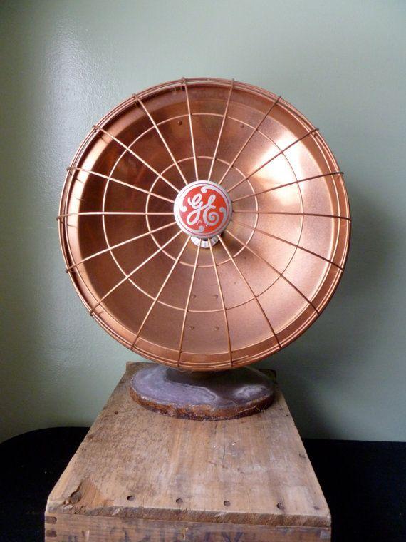 Vintage General Electric GE Heater Radiant Heat Fan