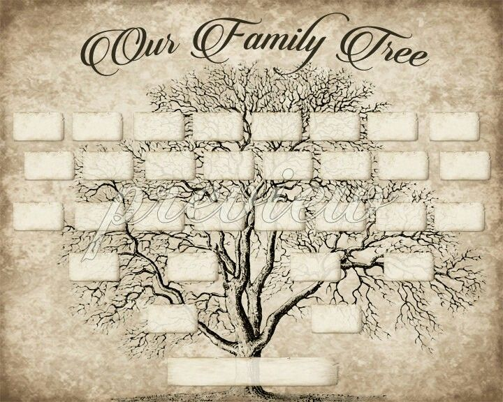 DIY Printable Family Tree PDF Template 8x10, Type in your