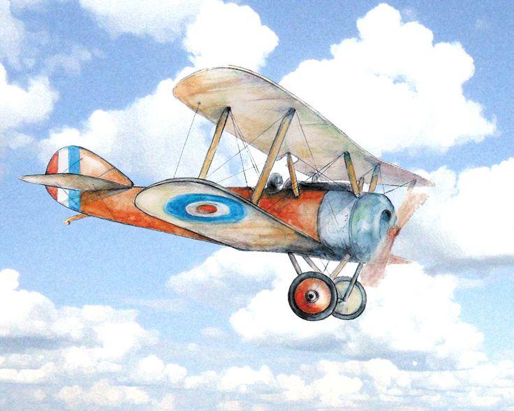 Airplane Nursery Decor Vintage Airplane Flying In Clouds