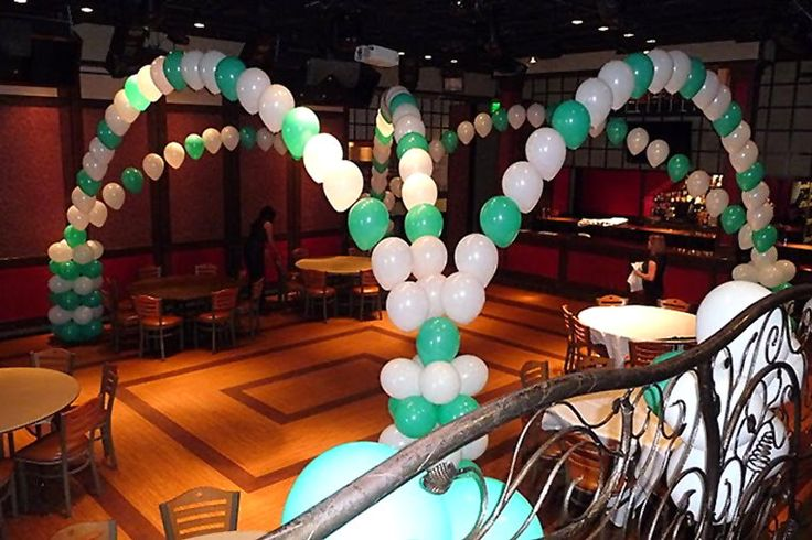 Quinceanera Balloon Decorations Mint Balloon Arch