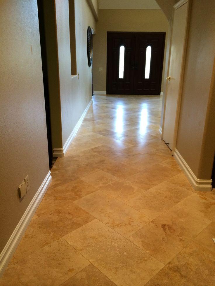 12x24 Travertine In Herringbone West Coast Flooring Pinterest Herringbone Travertine And