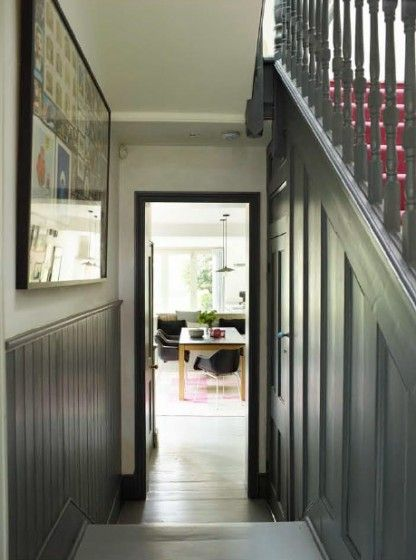 Victorian House Dulwich London Tongue Amp Groove Panelling And Wooden Staircase Painted In