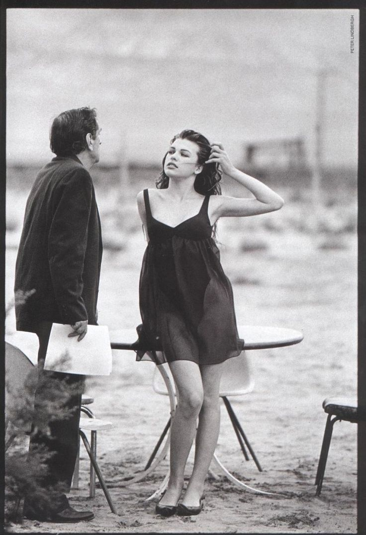 Harry Dean Stanton & Milla Jovovich Photography by Peter