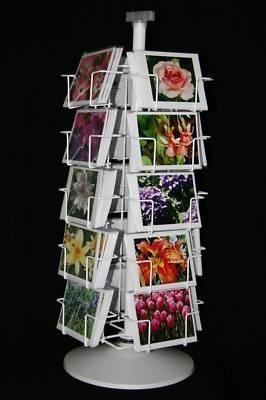 Post Card Display Rack 20 4X6 Spinner Postcard Carousel