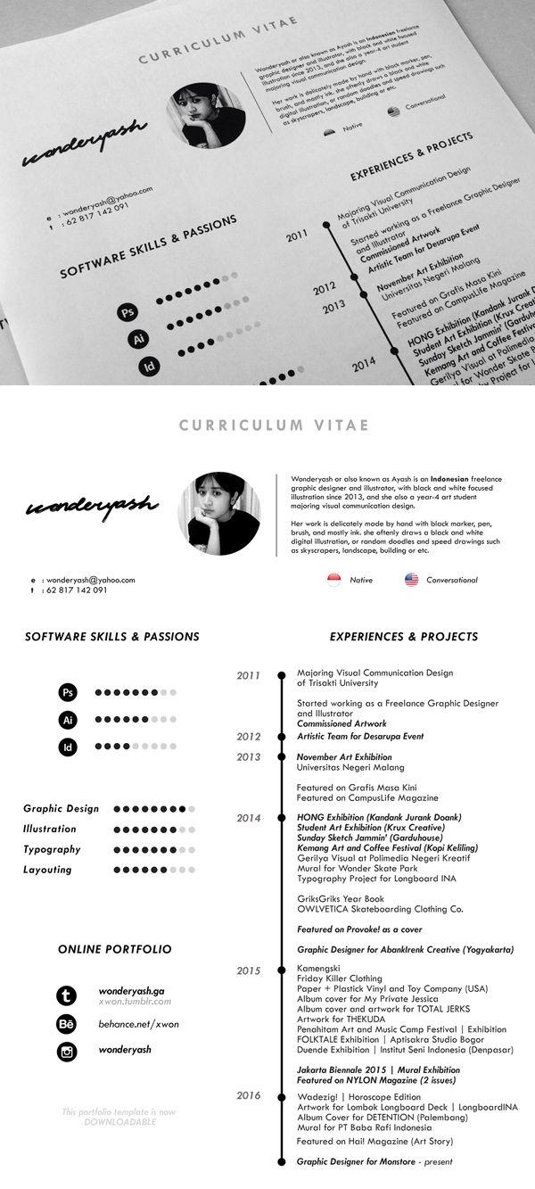 1000 ideas about free cv template on pinterest resume templates cv