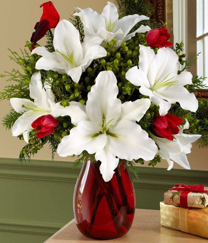 White Lily & Red Tulips (except more tulips) Valentines