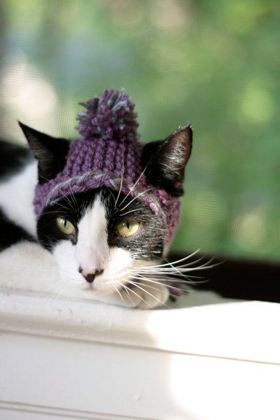 Furry Knit Earflap Hat Pattern