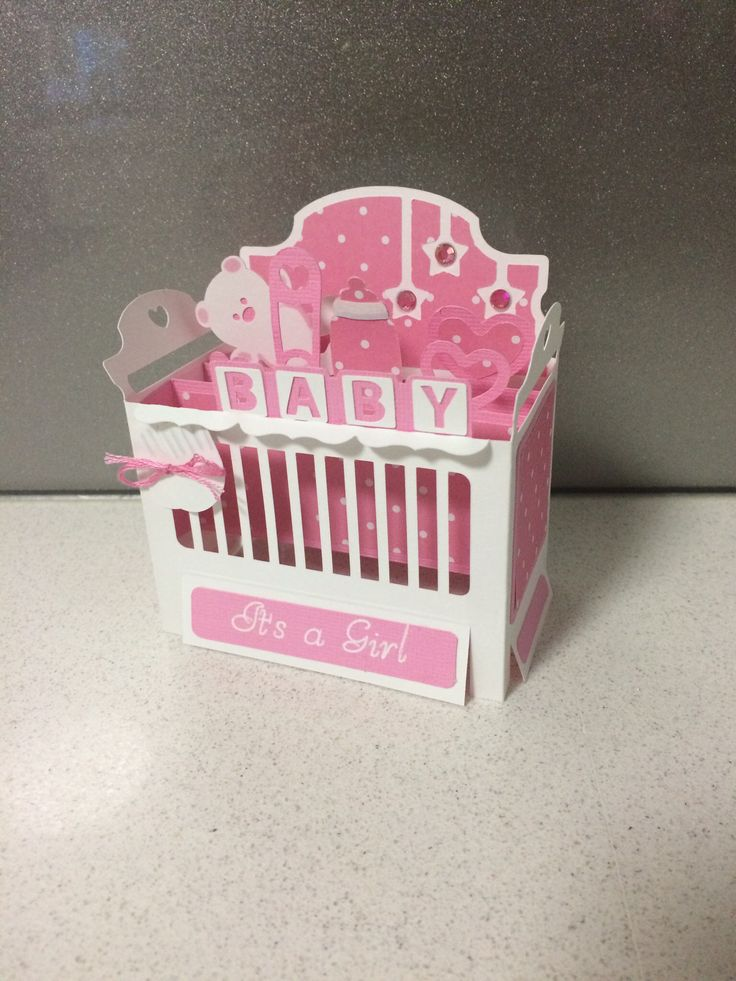 Baby Crib Cot Box Card Pattern From SVG Cuts Leahs