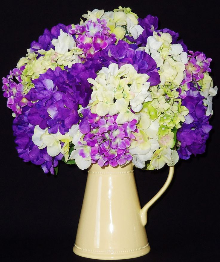 Silk Floral Arrangement, Lavender, Purple, and Green