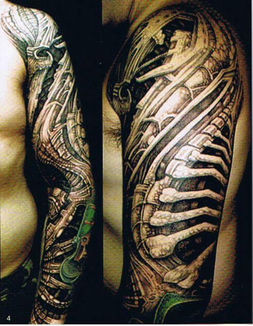 Tattoo Mechanical Sick Arm