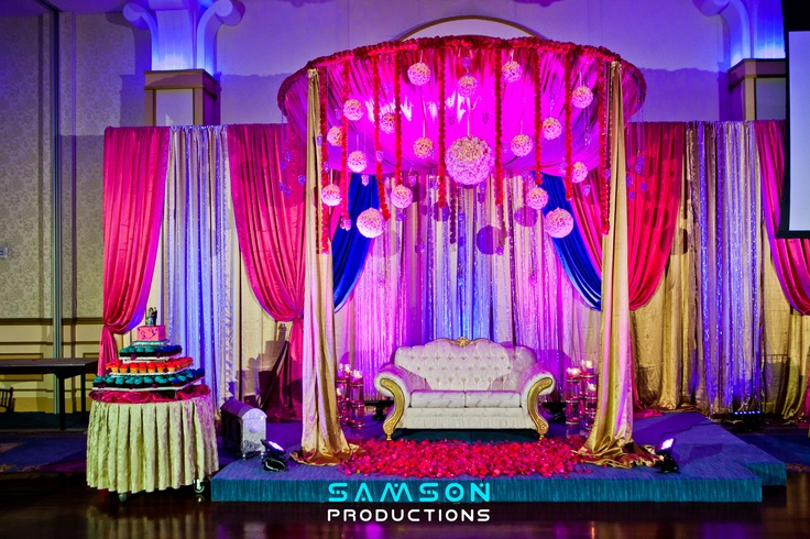 Decor for an Indian Wedding that took place at wedding