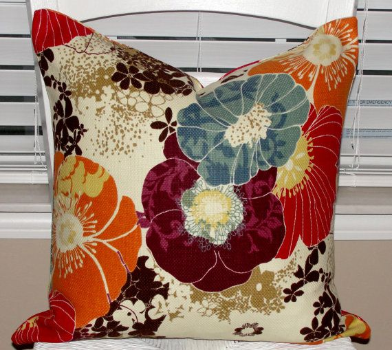 Pair Of Designer Throw Pillow Covers 18x18 Richloom Amelia