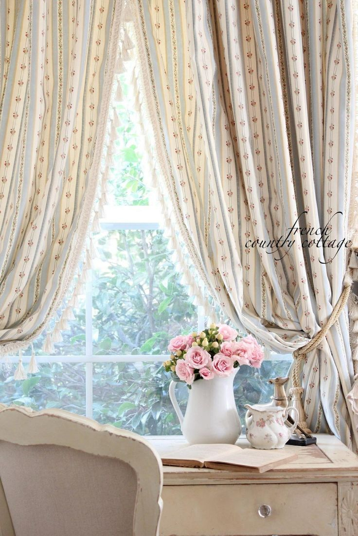 Shabby Chic French Country Curtains For The Home Pinterest French Country Curtains And