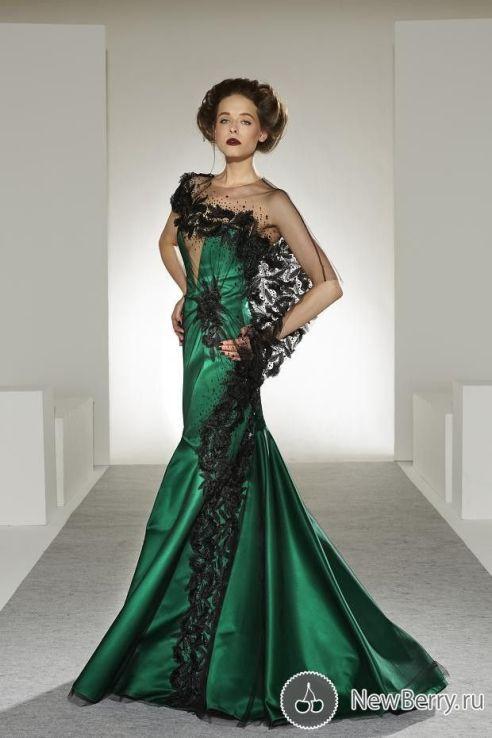 Verde: color inusual incluso dentro de las novias que no quieren el tradicional blanco - Georges Chakra Haute Couture осень-зима 2013-2014: