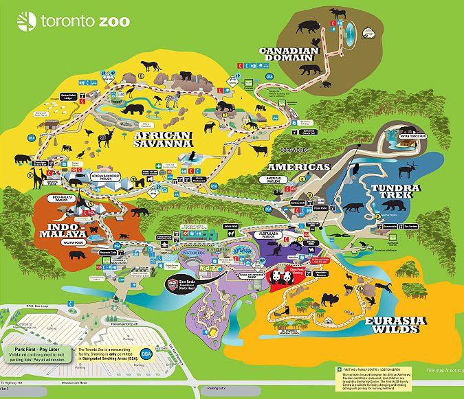 Toronto Zoo Toronto Zoo Map Niagara Falls Vacay