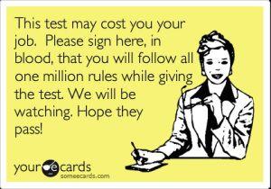 Oh standardized testing...: