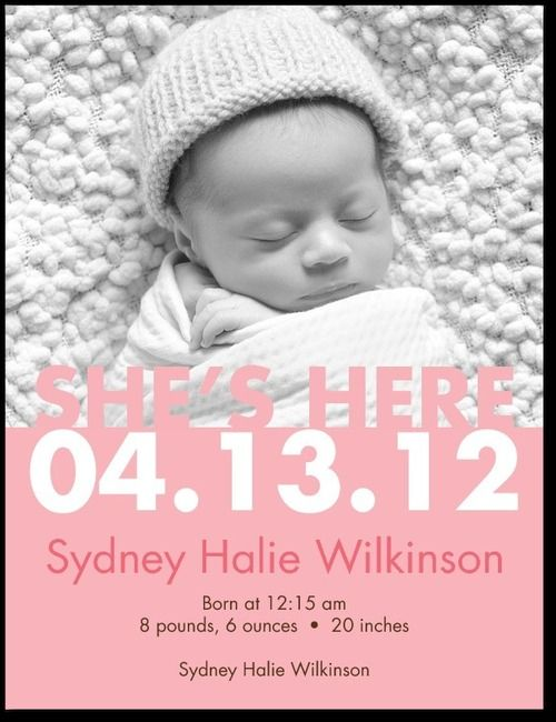 10 Best Images About Birth Announcement Ideas On Pinterest