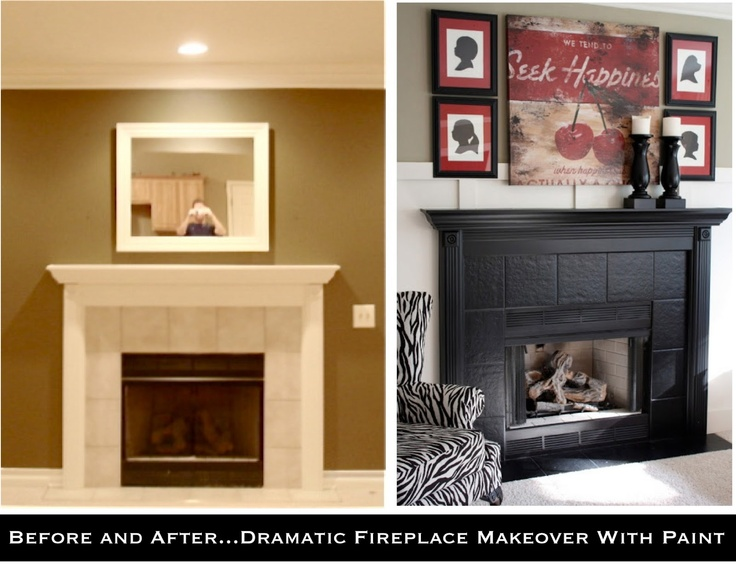 DIY Painted Fireplace Makeover Easy DIY Projects