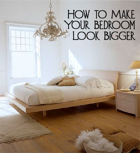 If your bedroom looks small and crowded, you may need to make a few changes inst