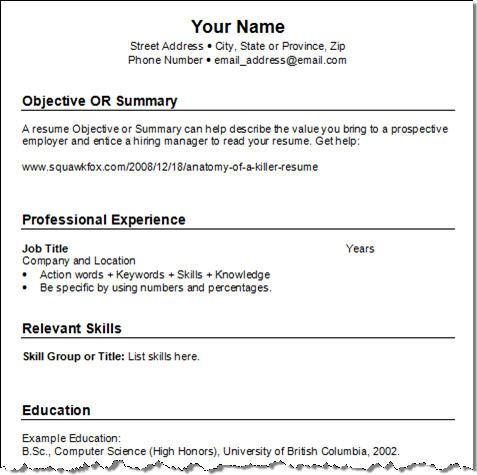 Easy Resume Format Download. free sample training evaluation form ...