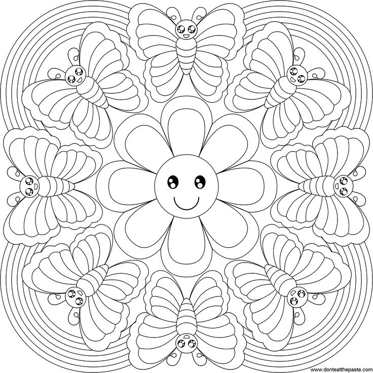 pattern mandala free printable mandala coloring pages flower
