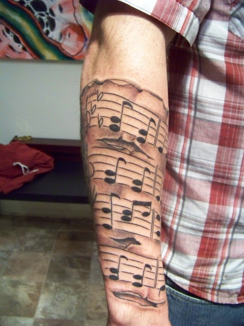This is the style of sheet music I want Tattoo