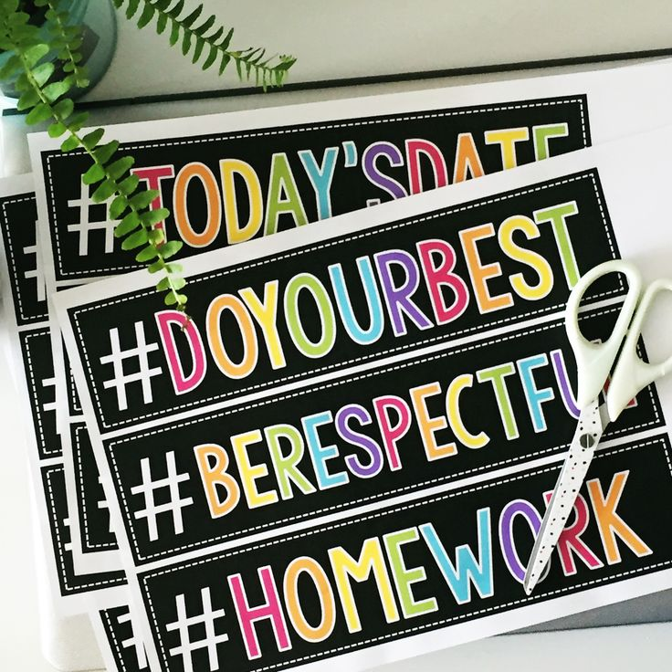 Motivational Hashtags for the Classroom Posts, Colors