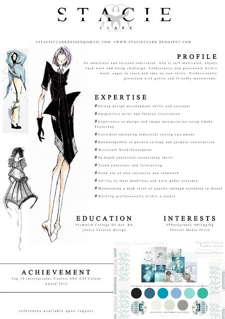 about fashion resume on pinterest fashion cv resume and cv template