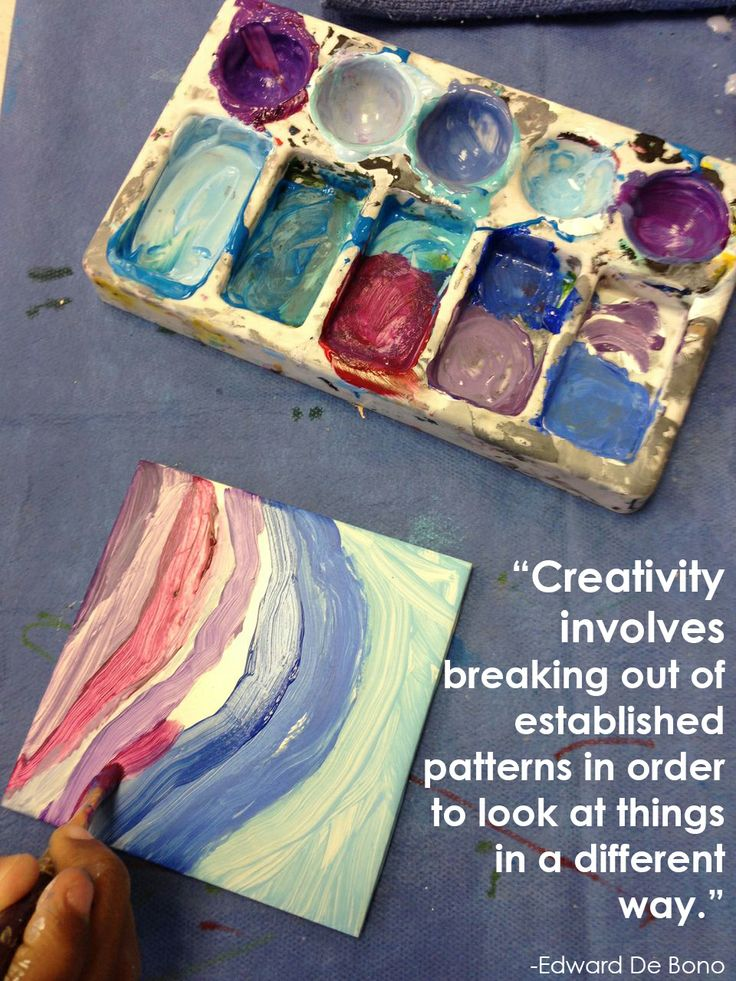 """""""Creativity involves breaking out of established patterns"""