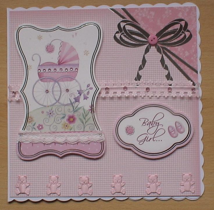 Hunkydory A Beautiful New Baby Girl Card Made Using