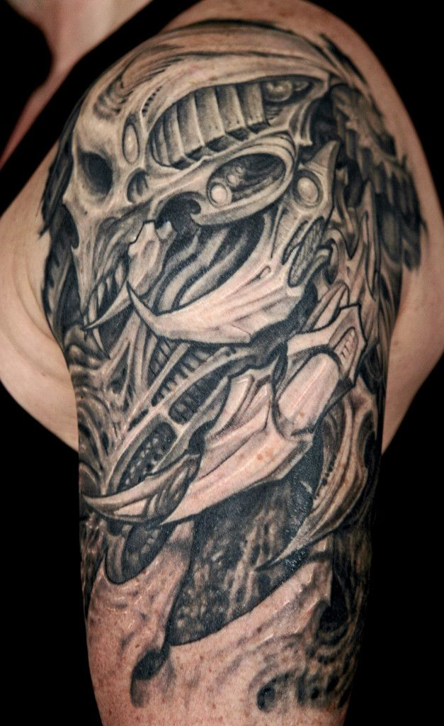 25 Amazing Biomechanical Tattoos Design Skulls, Tattoo