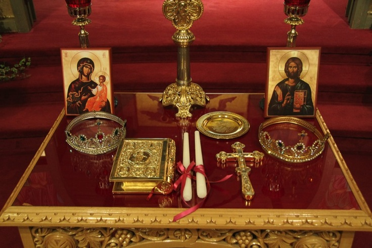 Christian Orthodox Wedding Crowns And Table Wedding