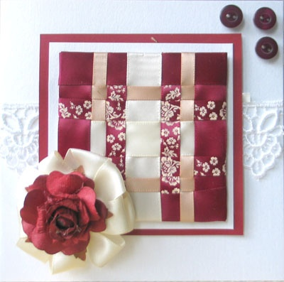 28 Best Images About Ribbon Weaving On Pinterest