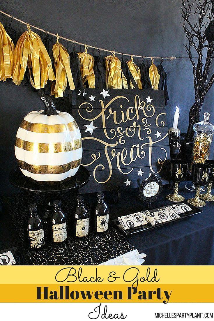 Halloween party, Black gold and Halloween ideas on Pinterest