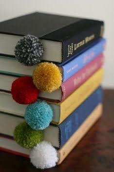 Pom Pom Bookmark from mylifeandkids.com