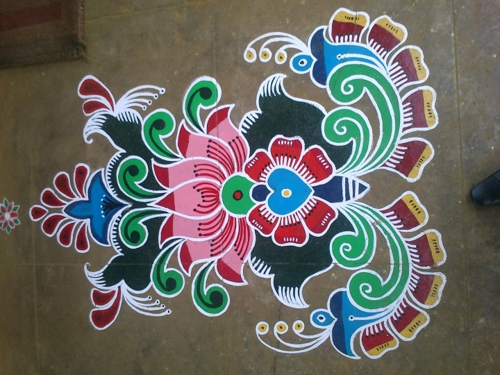 pretty rangoli design Rangoli Pinterest Festivals