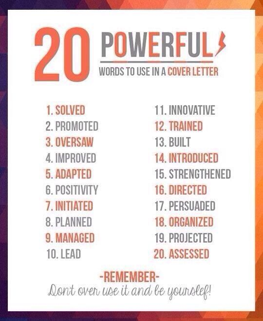 Resume Power Phrases. power resume words to use in your ...