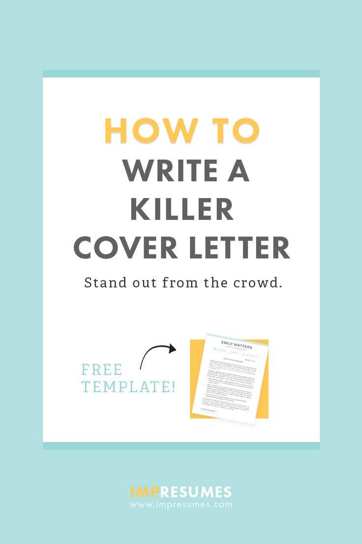 How To Quickly Write A Killer Cover Letter Cover Letter Example And Letter Example