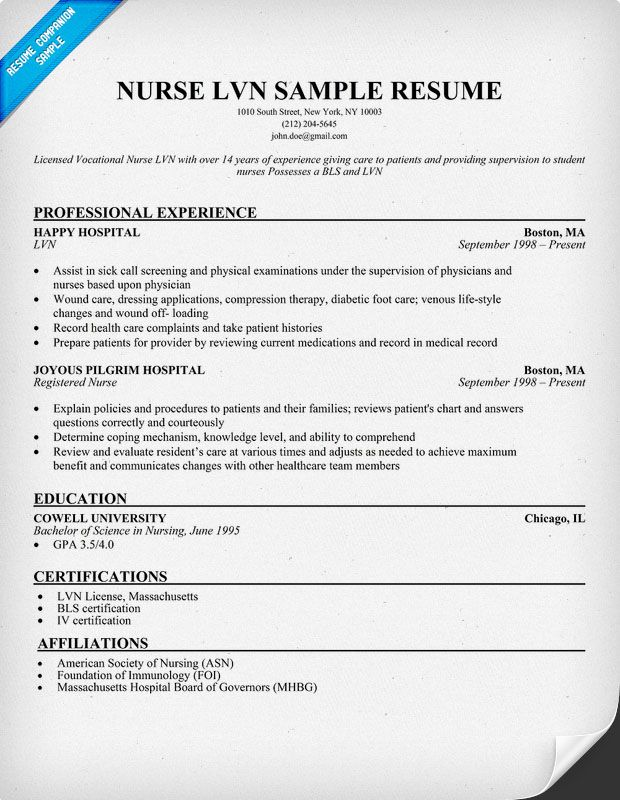 Lpn Resumes Skills. Lpn Instructor Resume Example Download Sample
