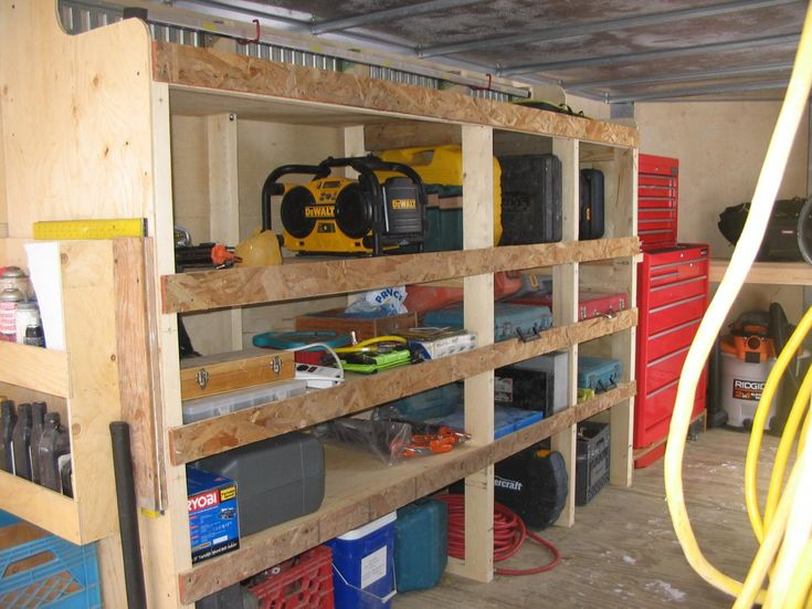 Enclosed Trailer Shelving Trailer Customizing Ideas