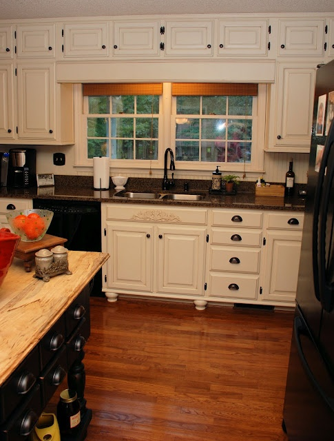 From Oak Kitchen Cabinets To Painted White Cabinets