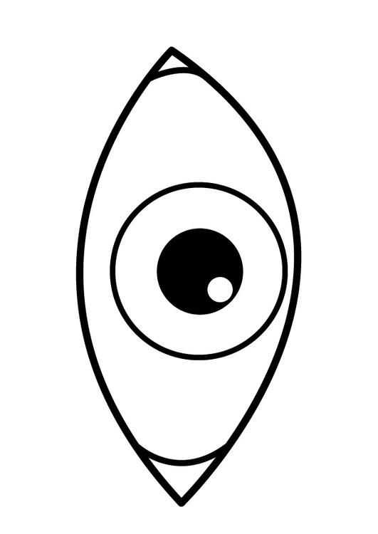 coloring page eye  coloring picture eye. free coloring