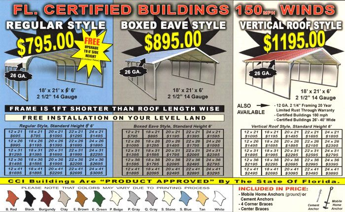metal carport prices florida Home Ideas Pinterest