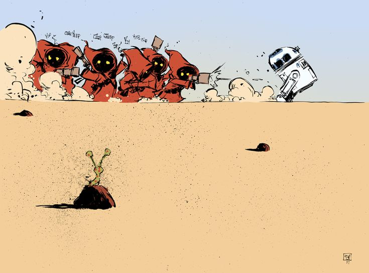 scottie young jawas chasing r2        Jawas hunting R2-D2 by Skottie Young